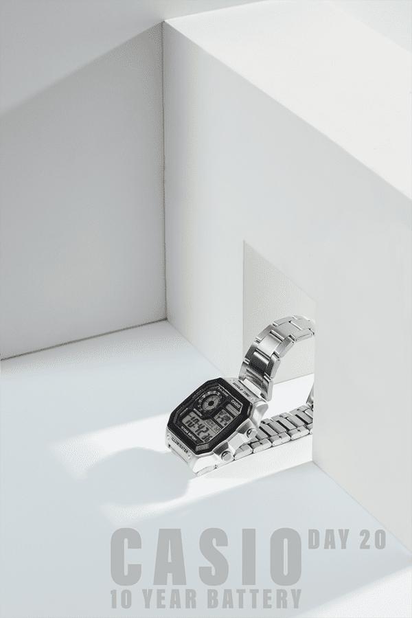 chụp ảnh sản phẩm đồng hồ casio